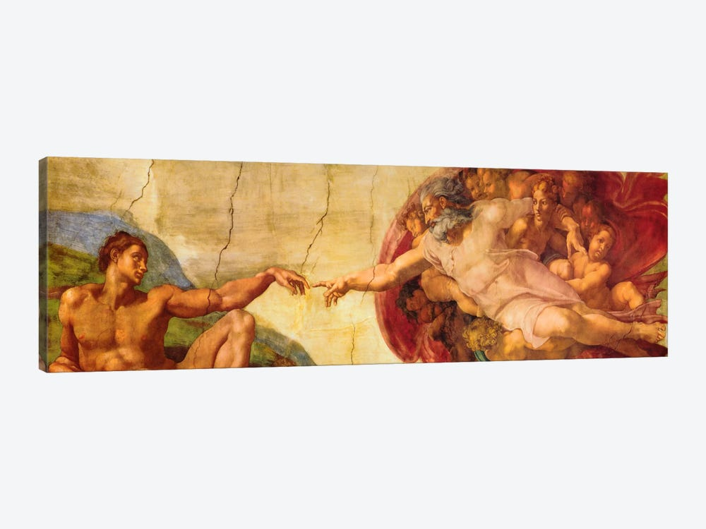Creation of Adam by Michelangelo 1-piece Art Print