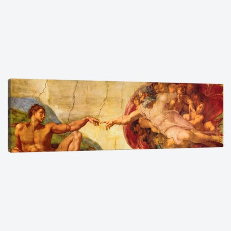 Creation of Adam Canvas Print #318PAN} by Michelangelo Canvas Wall Art