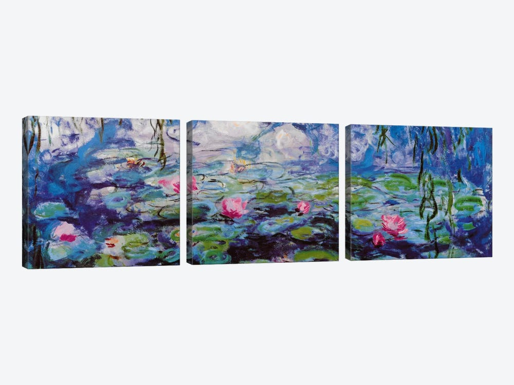 Nympheas by Claude Monet 3-piece Canvas Art