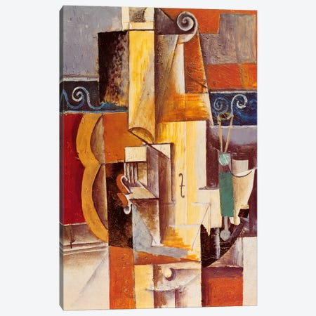 Violin and Guitar Canvas Print #329} by Pablo Picasso Art Print