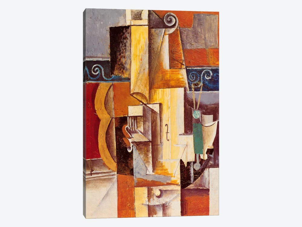 Violin and Guitar by Pablo Picasso 1-piece Canvas Art