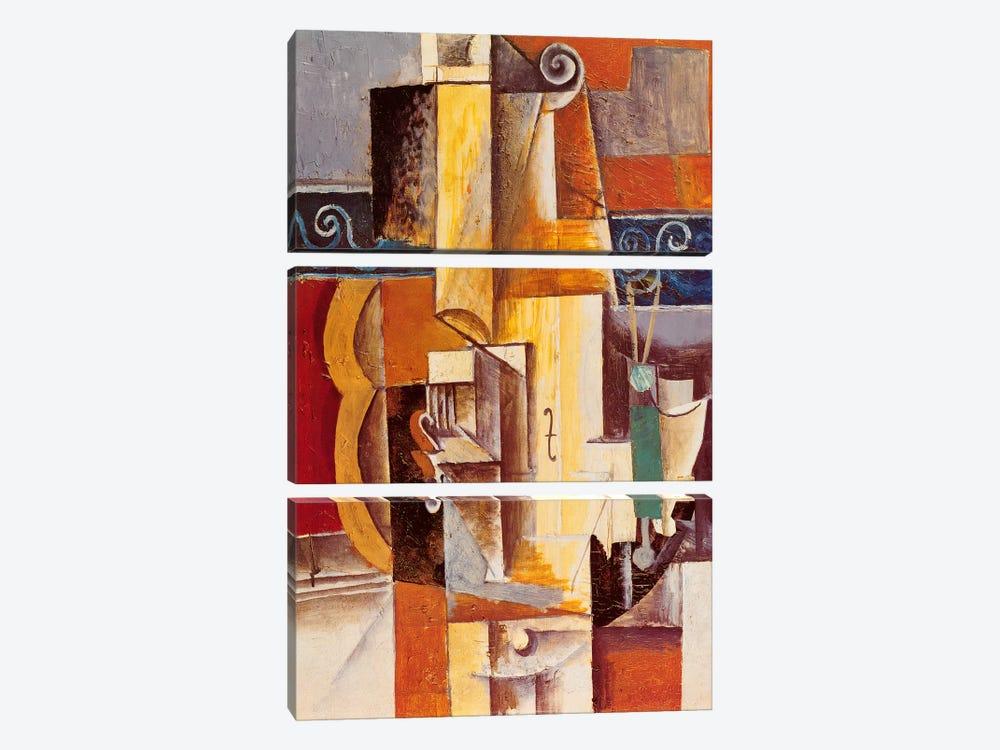 Violin and Guitar by Pablo Picasso 3-piece Canvas Artwork