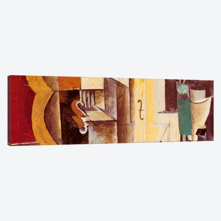 Violin & Guitar Canvas Print #329PAN} by Pablo Picasso Art Print