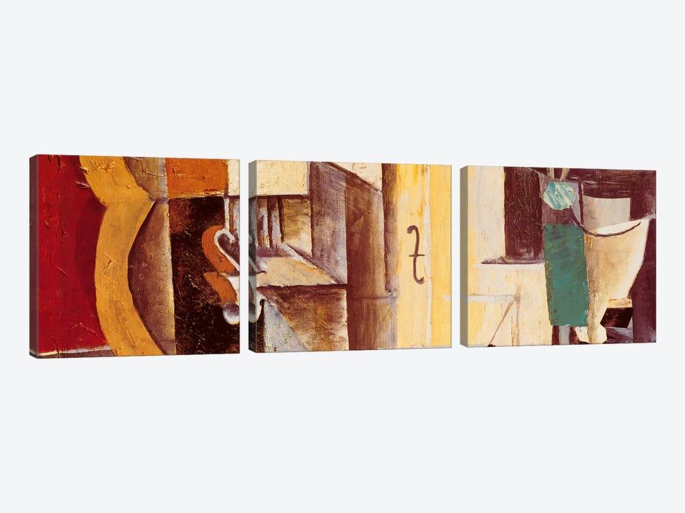 Violin & Guitar by Pablo Picasso 3-piece Canvas Art Print