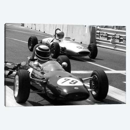 Vintage F1 Race Canvas Print #33} Canvas Art