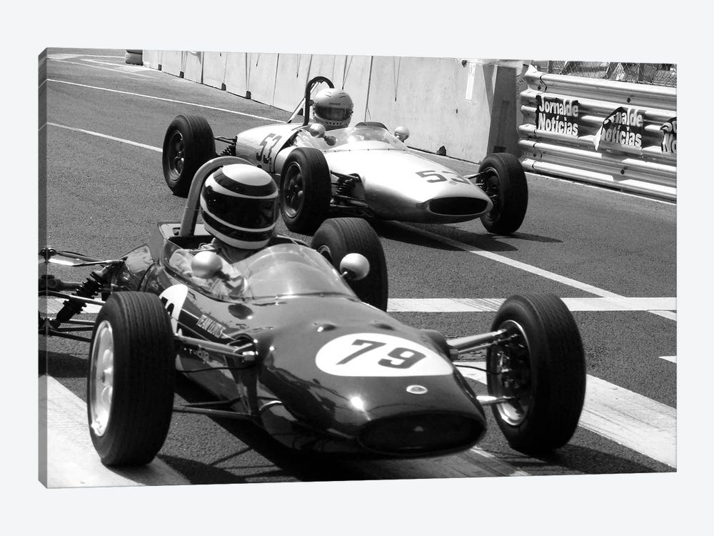 Vintage F1 Race by Unknown Artist 1-piece Canvas Artwork