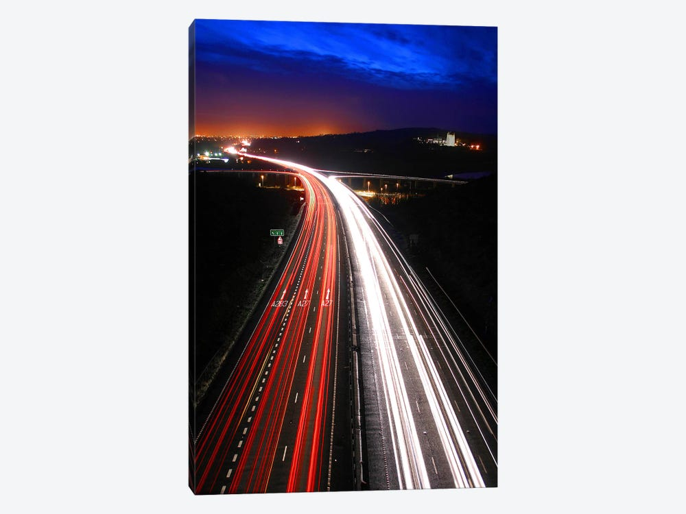 Road Lights by Unknown Artist 1-piece Canvas Art Print