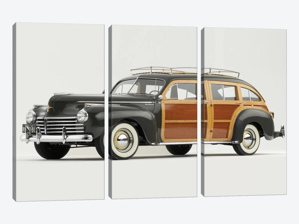 1941 Chrysler Town & Country 3-piece Canvas Art