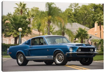 1968 Shelby Gt 500 Kr Fastback Canvas Art Print