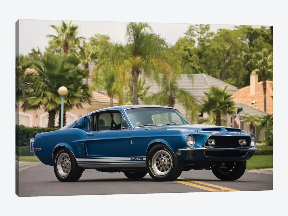 1968 Shelby Gt 500 Kr Fastback 1-piece Canvas Art