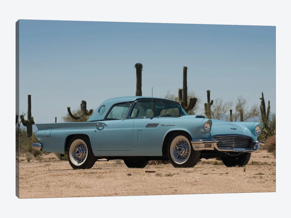 1957 Ford Thunderbird by Unknown Artist 1-piece Canvas Wall Art