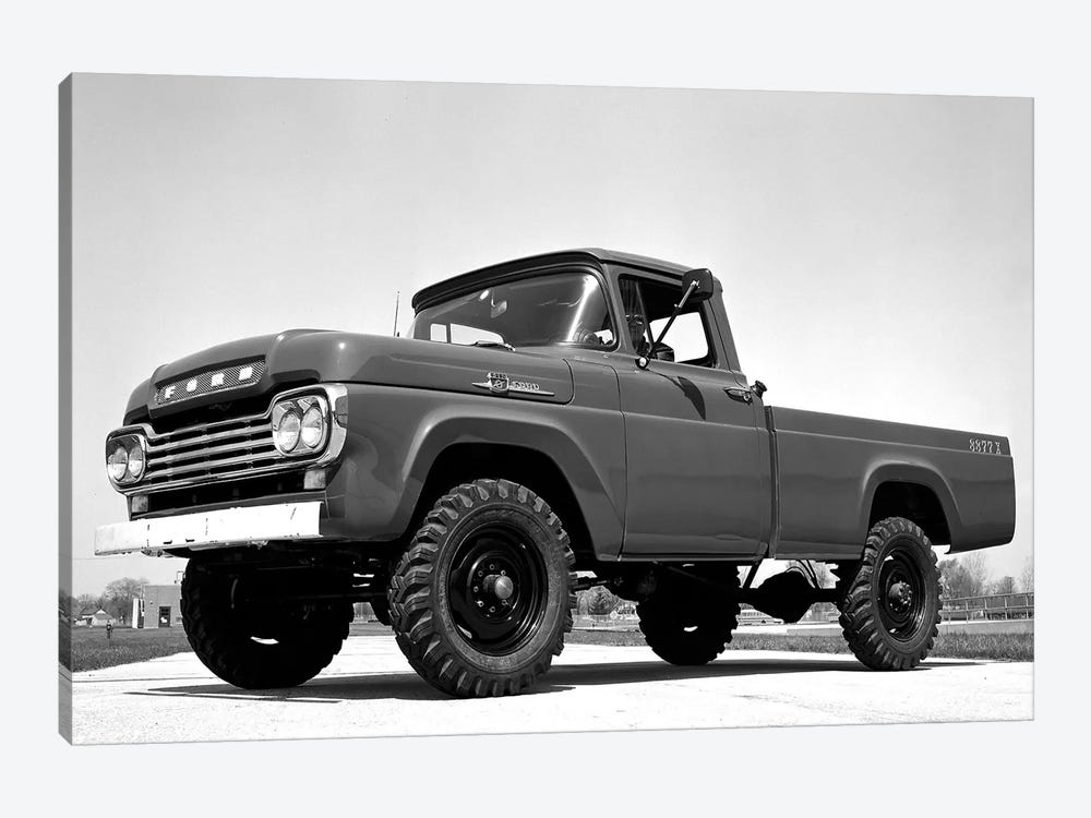 1959 Ford F-250 4x4 by Unknown Artist 1-piece Art Print