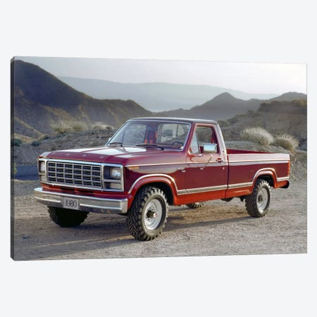 1980 Ford F-250 Ranger Canvas Print #3519} by Unknown Artist Canvas Art Print