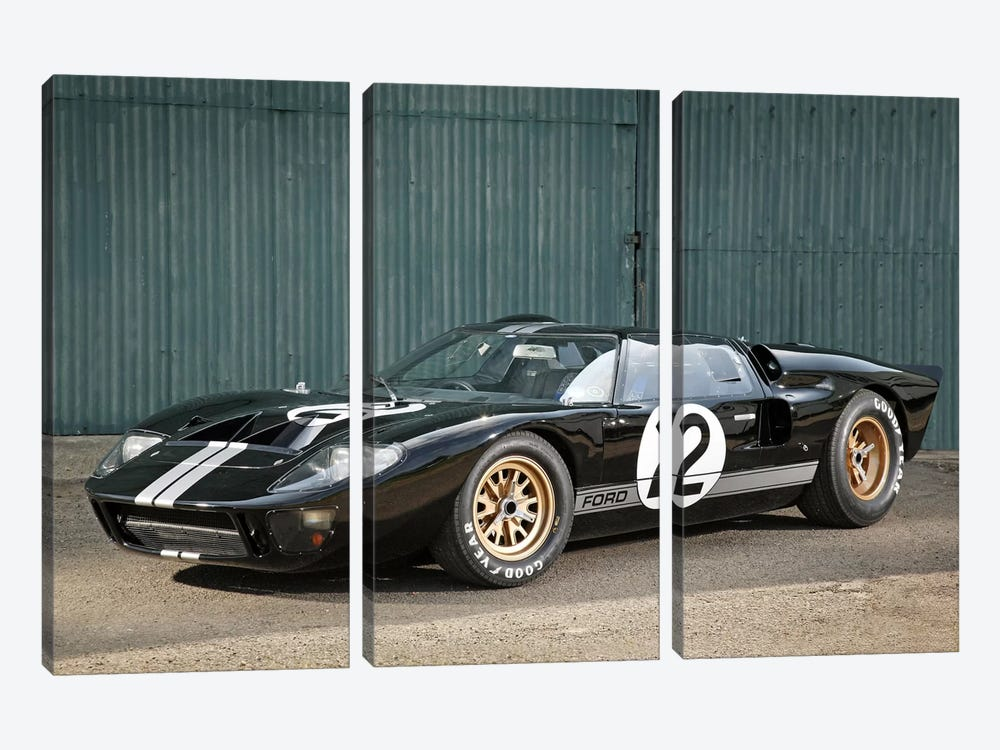 Ford Gt40 Le Mans Race Car, 1966 3-piece Canvas Artwork