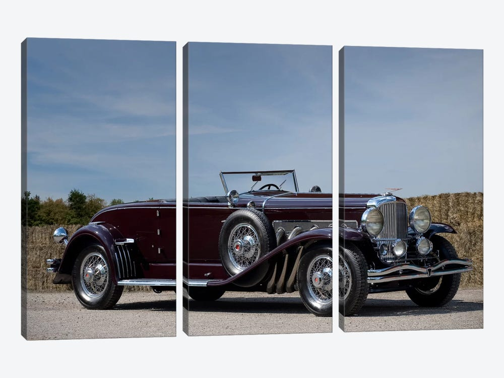 1935 Duesenberg Model J Murphy Convertible Coupe 3-piece Canvas Wall Art