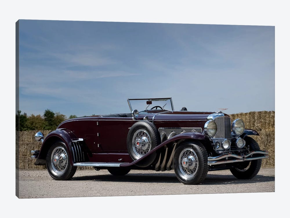 1935 Duesenberg Model J Murphy Convertible Coupe by Unknown Artist 1-piece Canvas Wall Art