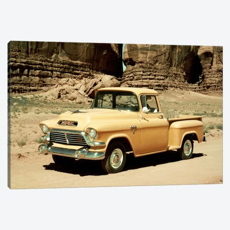 Gmc 100 Series 1-2-ton Pickup, 1957 Canvas Print #3536} by Unknown Artist Canvas Artwork