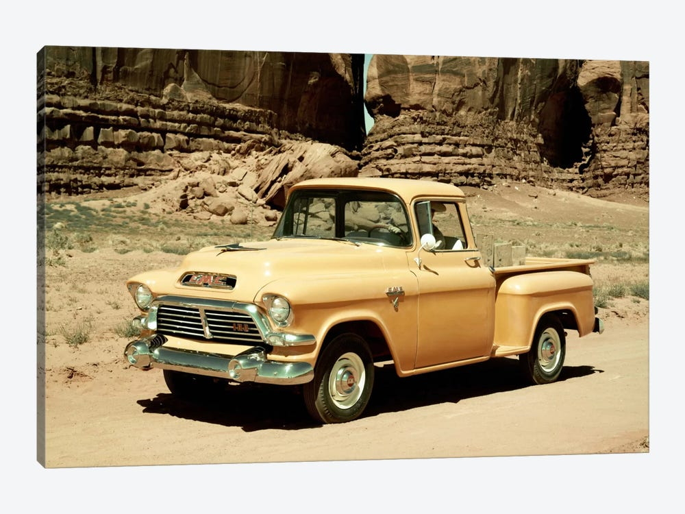 Gmc 100 Series 1-2-ton Pickup, 1957 1-piece Canvas Art Print