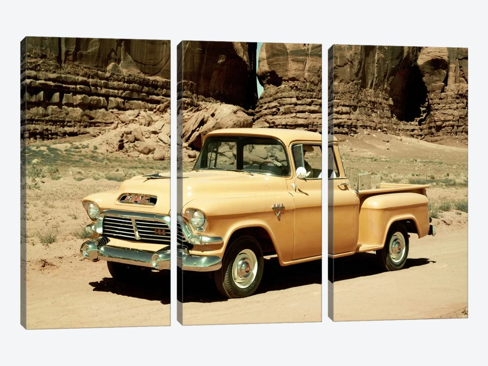 Gmc 100 Series 1-2-ton Pickup, 1957 3-piece Art Print