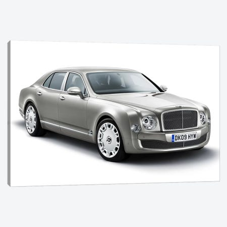 Bentley Mulsanne Gray Canvas Print #3548} Canvas Wall Art