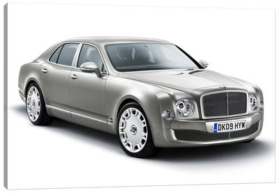 Bentley Mulsanne Gray Canvas Print #3548
