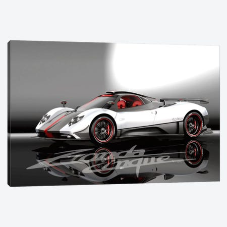 Pagani Zonda Cinque Canvas Print #3551} by Unknown Artist Canvas Art Print