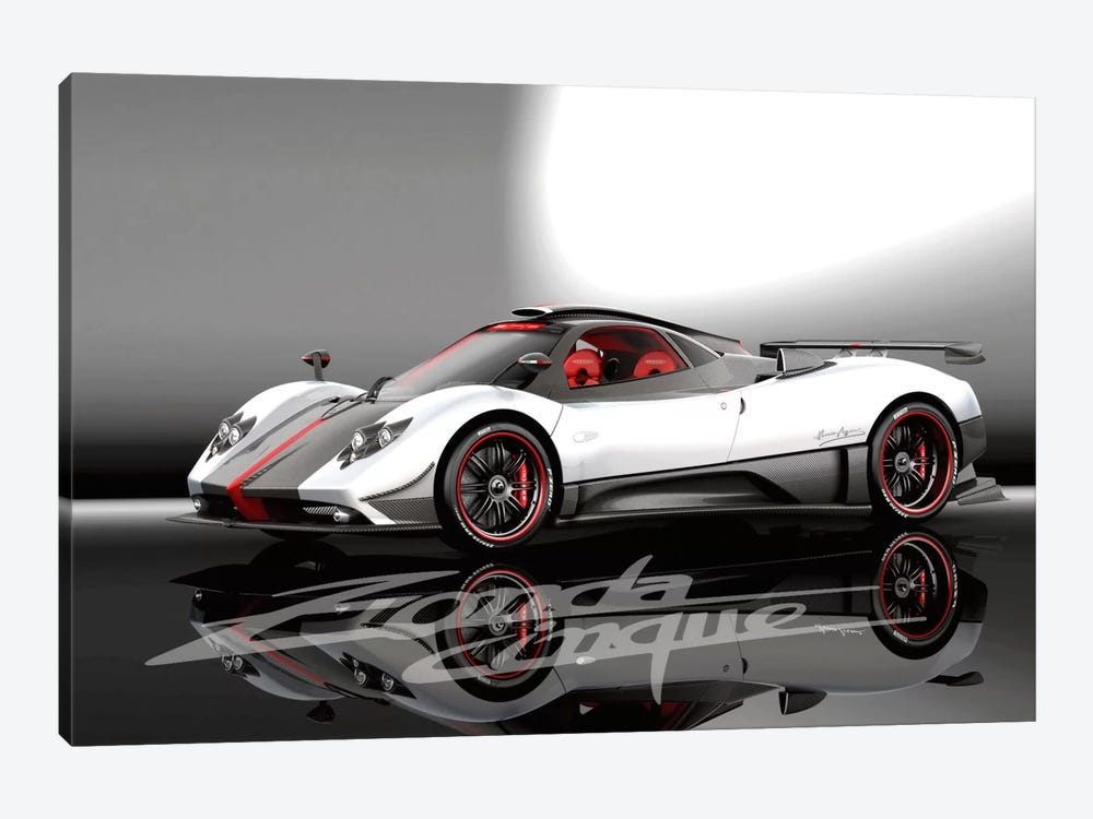 Pagani Zonda Cinque by Unknown Artist 1-piece Canvas Artwork