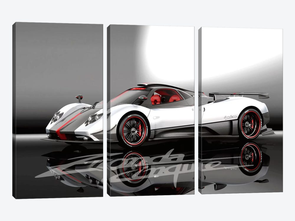Pagani Zonda Cinque by Unknown Artist 3-piece Canvas Artwork