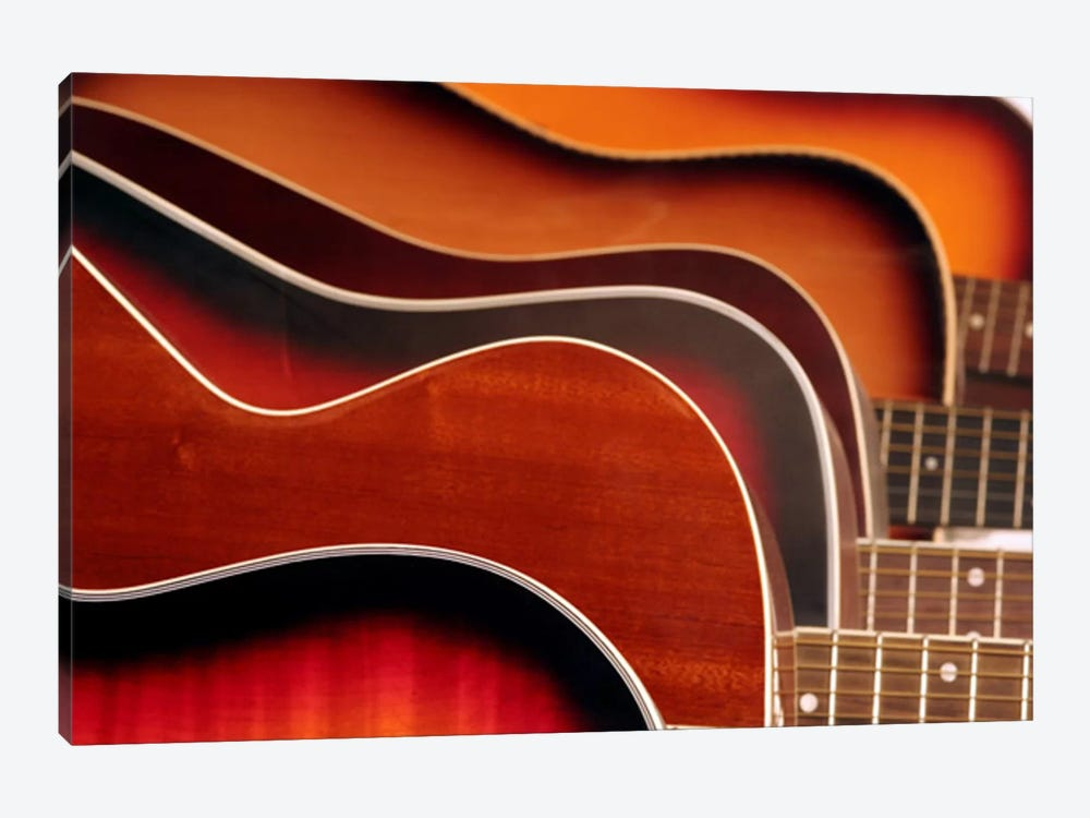 Acoustic Guitar by Unknown Artist 1-piece Canvas Wall Art