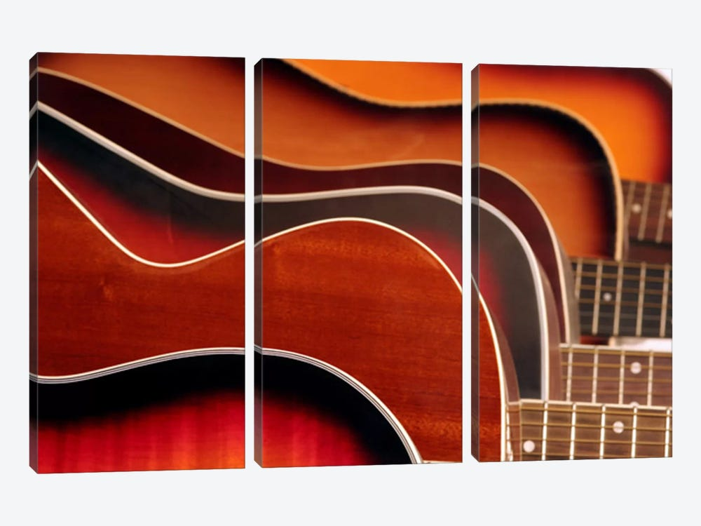 Acoustic Guitar by Unknown Artist 3-piece Canvas Artwork