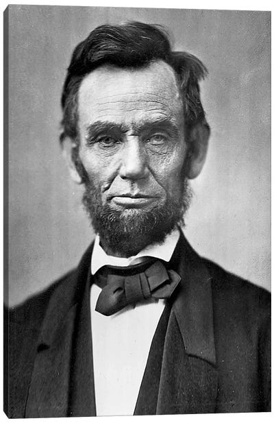 Abraham Lincoln Portrait Canvas Art Print