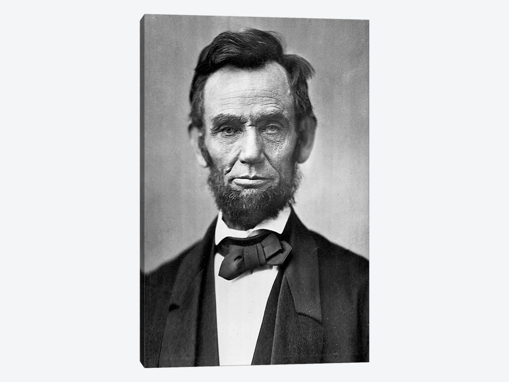 Abraham Lincoln Portrait 1-piece Canvas Art