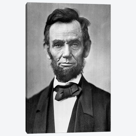 Abraham Lincoln Portrait 3-Piece Canvas #3600} by Unknown Artist Canvas Print