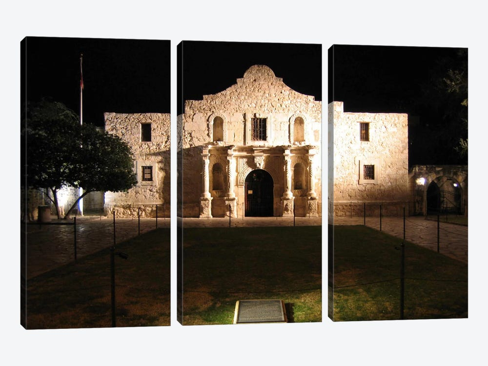 The Alamo by Unknown Artist 3-piece Canvas Artwork