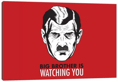 Big Brother Is Watching You 1984, Vintage Poster Canvas Art Print