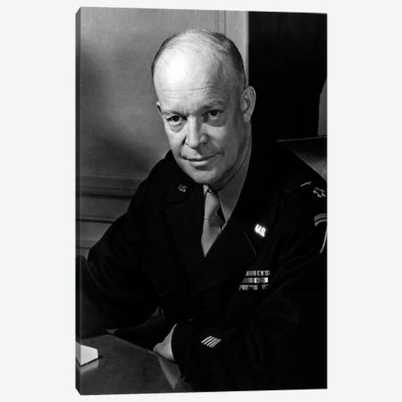 Dwight D. Eisenhower Portrait Canvas Print #3616} by Unknown Artist Canvas Art Print