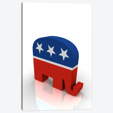 Gop Republican Party Elephant Symbol Canvas Print #3617} by Unknown Artist Art Print