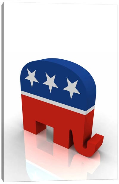 Gop Republican Party Elephant Symbol Canvas Art Print