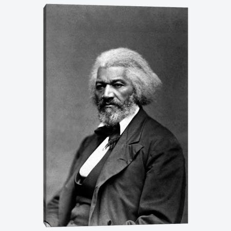 Frederick Douglass Portrait Canvas Print #3619} by Unknown Artist Canvas Artwork