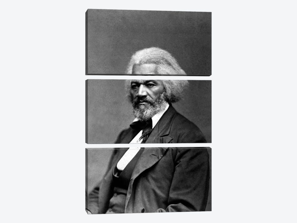 Frederick Douglass Portrait by Unknown Artist 3-piece Canvas Wall Art