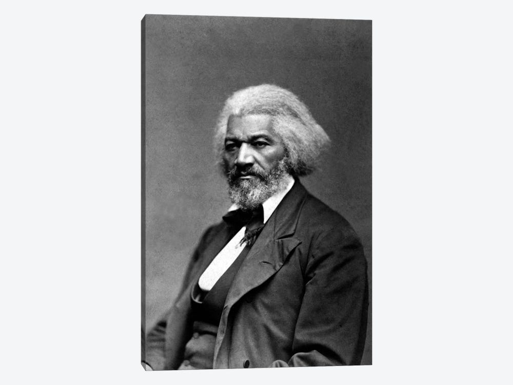 Frederick Douglass Portrait by Unknown Artist 1-piece Canvas Art