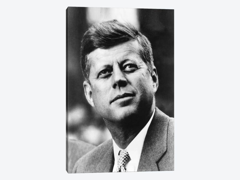 John F Kennedy JFK Portrait by Unknown Artist 1-piece Canvas Art