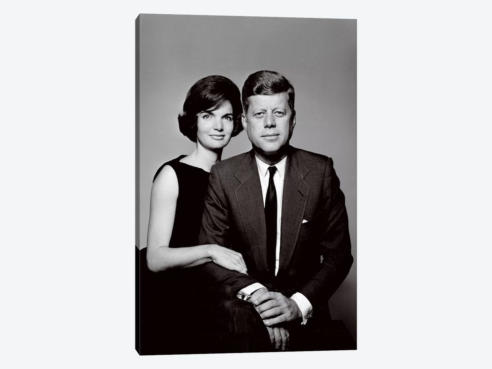 John & Jackie Kennedy Portrait by Unknown Artist 1-piece Art Print