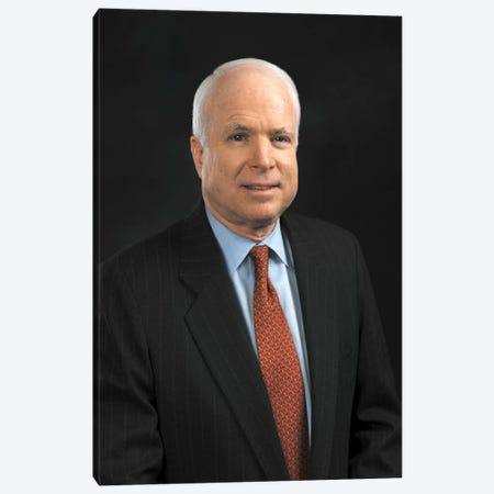 John Mccain Portrait Canvas Print #3633} by Unknown Artist Canvas Wall Art
