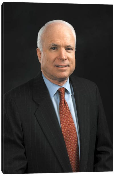 John Mccain Portrait Canvas Art Print
