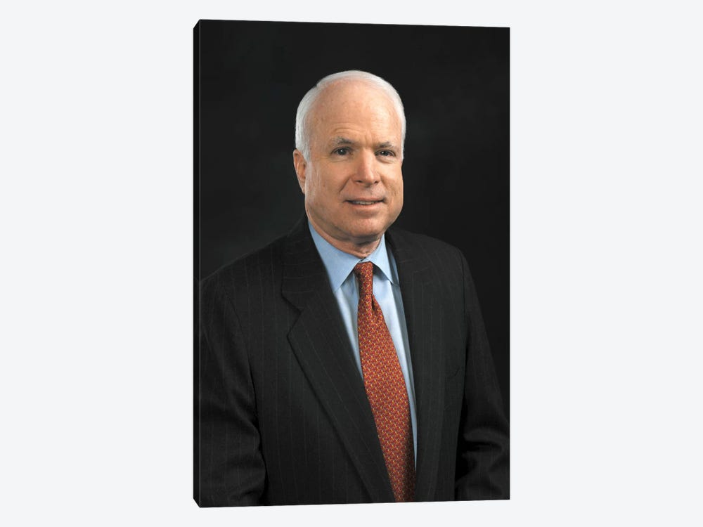 John Mccain Portrait by Unknown Artist 1-piece Canvas Artwork