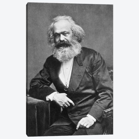 Karl Marx Portrait Canvas Print #3636} by Unknown Artist Canvas Print