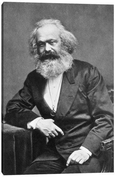 Karl Marx Portrait Canvas Print #3636