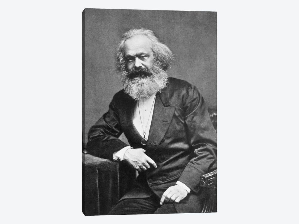 Karl Marx Portrait by Unknown Artist 1-piece Canvas Art Print
