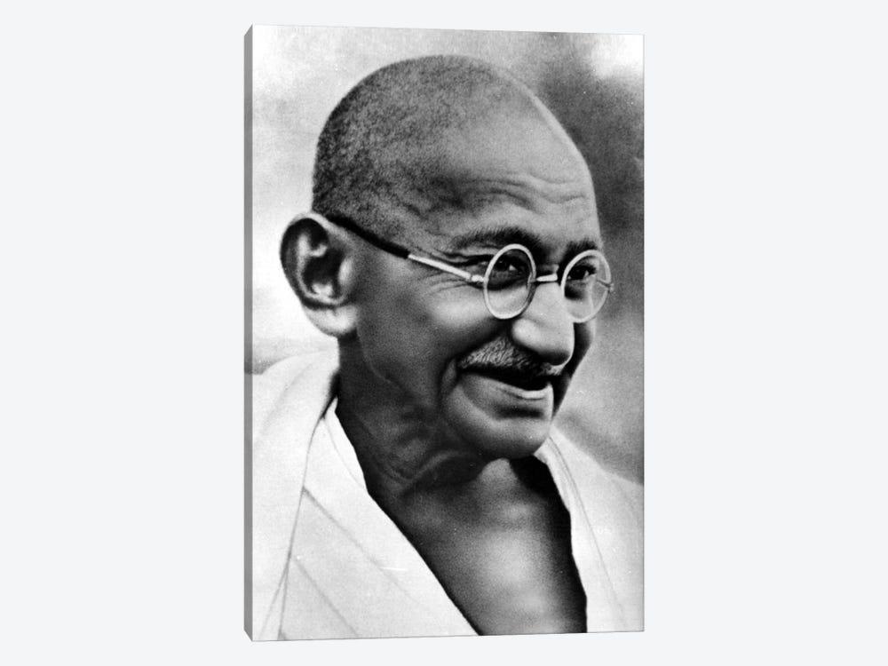 Gandhi Portrait by Unknown Artist 1-piece Canvas Print